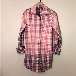 Free People Long Button Up Shirtdress